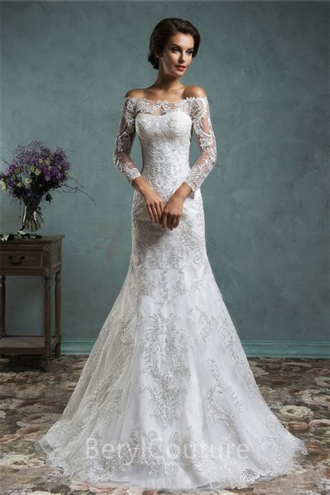 Vintage Lace Wedding Dress With Sleeves