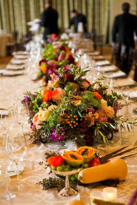 Fruits and Vegetables as Wedding Centerpieces   Wedding