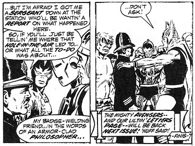 Avengers #100 panel