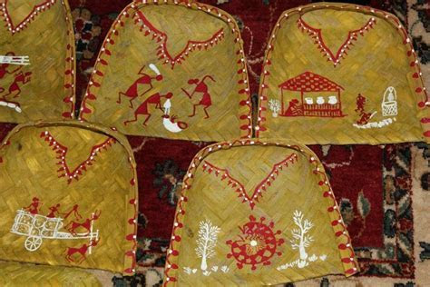 Warli painted trays   unique and gorgeous for a