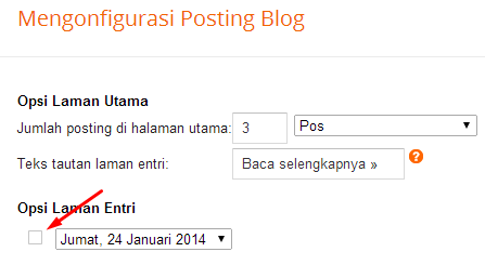 cara setting blogspot