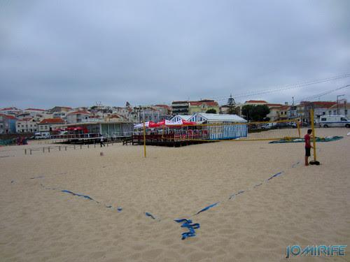 Campos de praia da Figueira da Foz / Buarcos #9 - Voleibol de praia na areia (onda do mar) (1) [en] Game fields on the beach of Figueira da Foz / Buarcos - Volleyball na areia