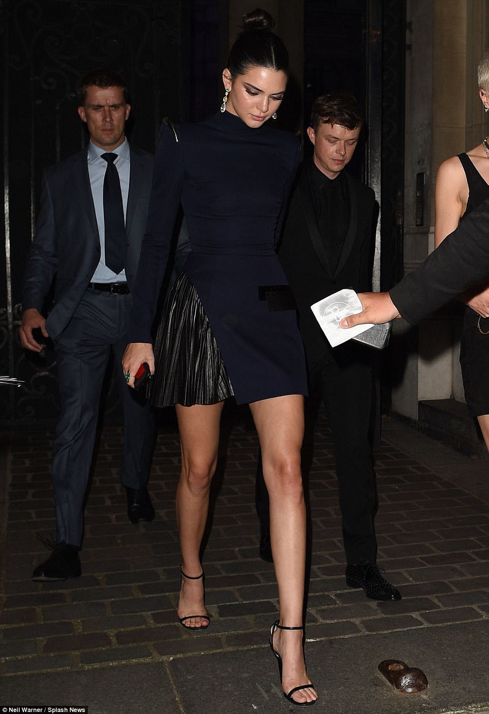 Stunner: Keeping Up With The Kardashians star Kendall looked flawless as she made her exit