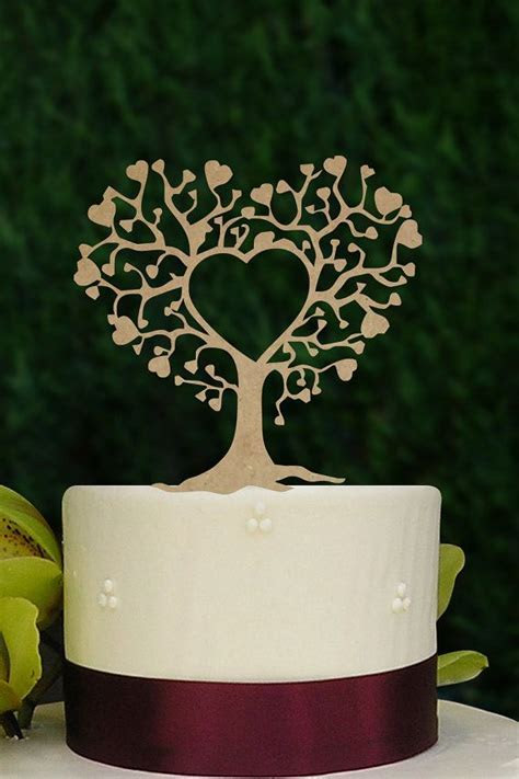 Rustic Wedding Cake Topper Silhouette Couple Mr & Mrs