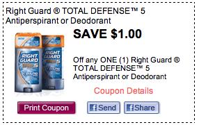 Screen Shot 2012 09 07 at 2.13.01 PM Right Guard Coupon   58¢ Deodorant At Publix