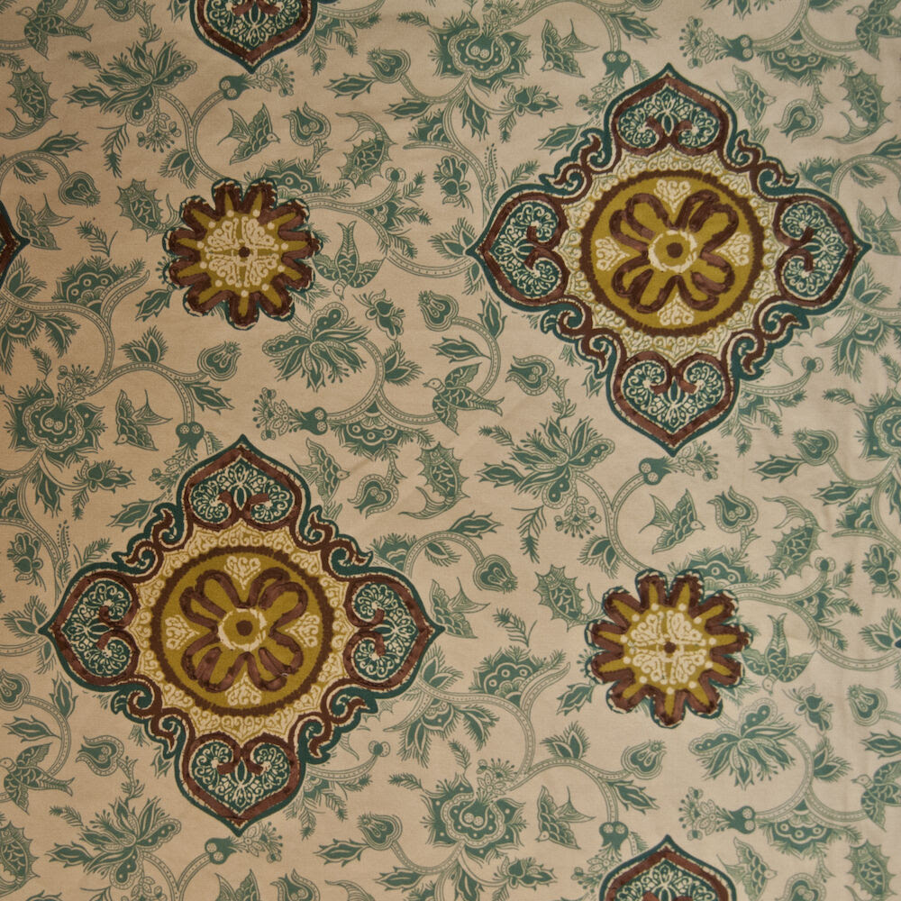 OR132 Nature Suzani Floral Birds Drapery Upholstery Home Decor Fabric eBay