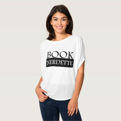 Book Nerdette Black Logo T-Shirt