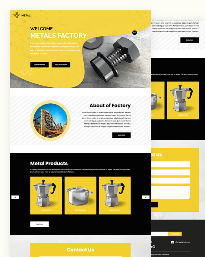 Metal – Free Factory HTML Template