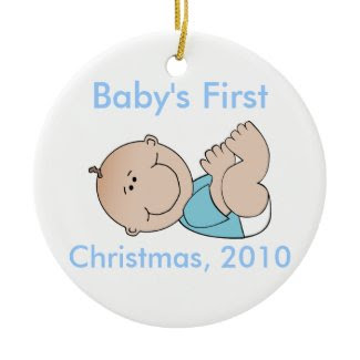 Baby's First Christmas Ornament - Boy ornament
