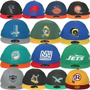 NewEraNFLRetroHistoricThrowbackHeritageLogoCollection5950FittedCap