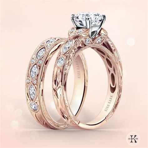Kirk Kara engagement ring and perfectly matching wedding