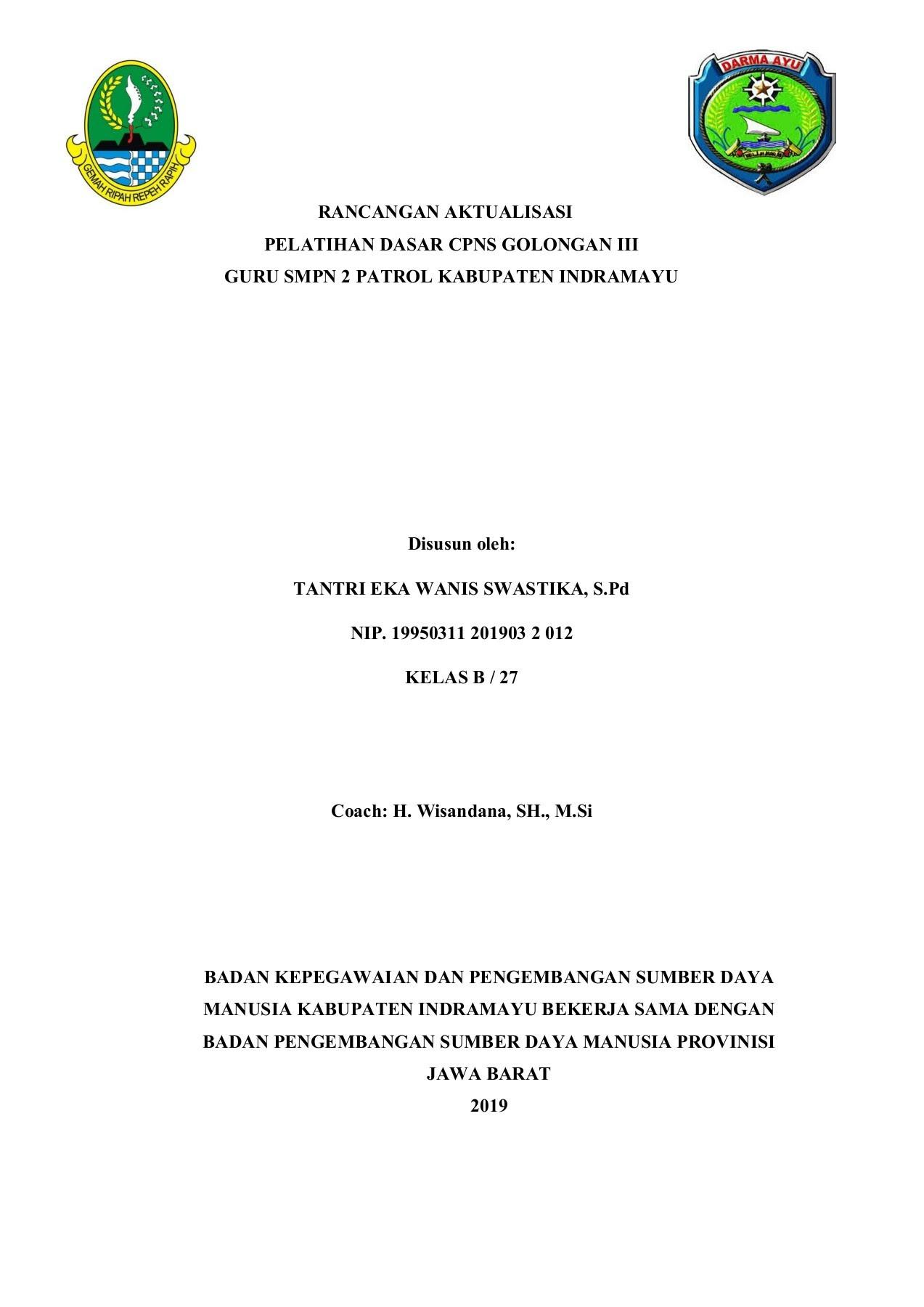 Infocpns Contoh Rancangan Aktualisasi Cpns Guru Smp