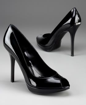 Miss Dior Patent Peep Toe Pump