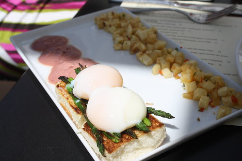 Vegetarian Eggs Benedict at Vu