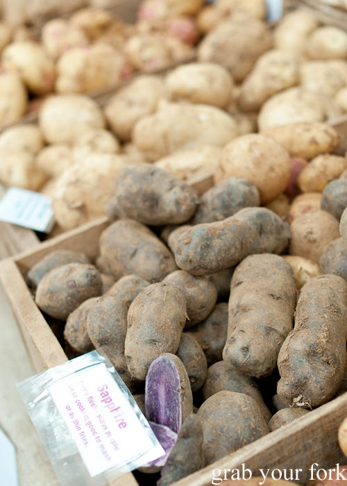 Sapphire potatoes from Highland Gourmet Potatoes at the Sunday Marketplace, Rootstock Sydney 2014