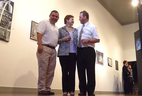 Dominick Salas, Christine and Chris Bailey, Norsworthy Gallery, Shreveport by trudeau