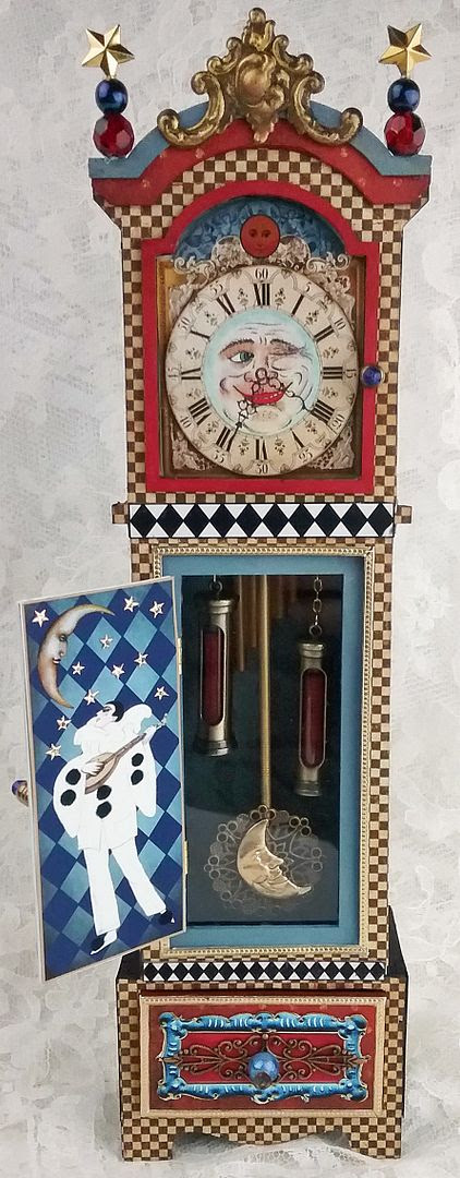 Artfully Musing Moonlight Serenade 3d Grandfather Clock New
