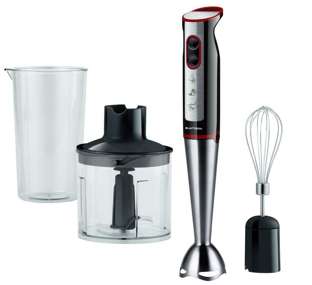 Laptronix 3-in-1 Hand Blender FREE Food Processor Mixer ...