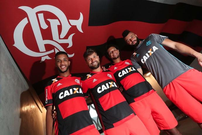Jorge, Diego, Willian Arão e Alex Muralha foram convocados (Foto: Gilvan de Souza/Flamengo)