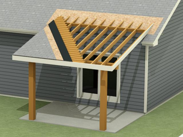 Design build process for a patio roof addition in Bozeman, MT