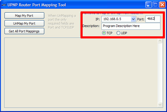 UPNP Port Mapping Tool