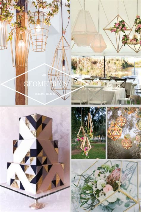 2017 Wedding Trends   Geometric shapes and suspended