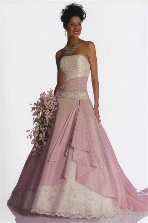 Wedding Dresses with Color   Here?s another pink bridal