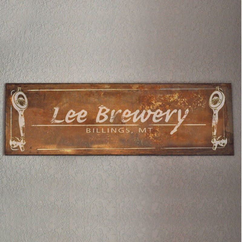 Sign  rustic Rusted  Personalized Brewery personalized Metal TO signs tin MADE ORDER