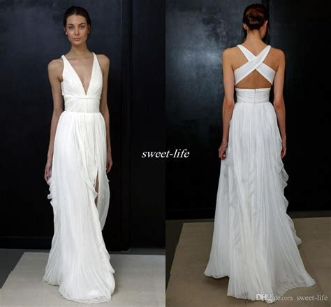 2017 Sheath Wedding Dresses for Greek Goddess Simple