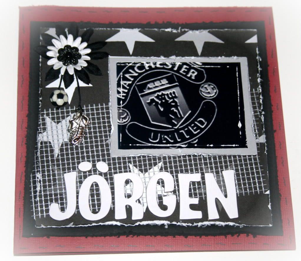 Fremsiden på Jørgen sitt kort