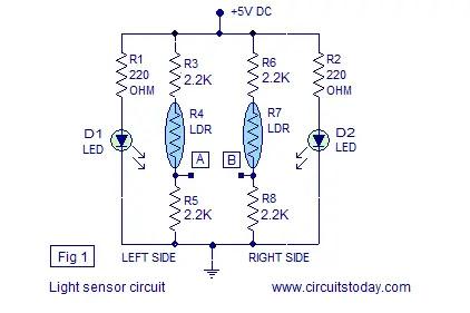 light sensor line follower robot