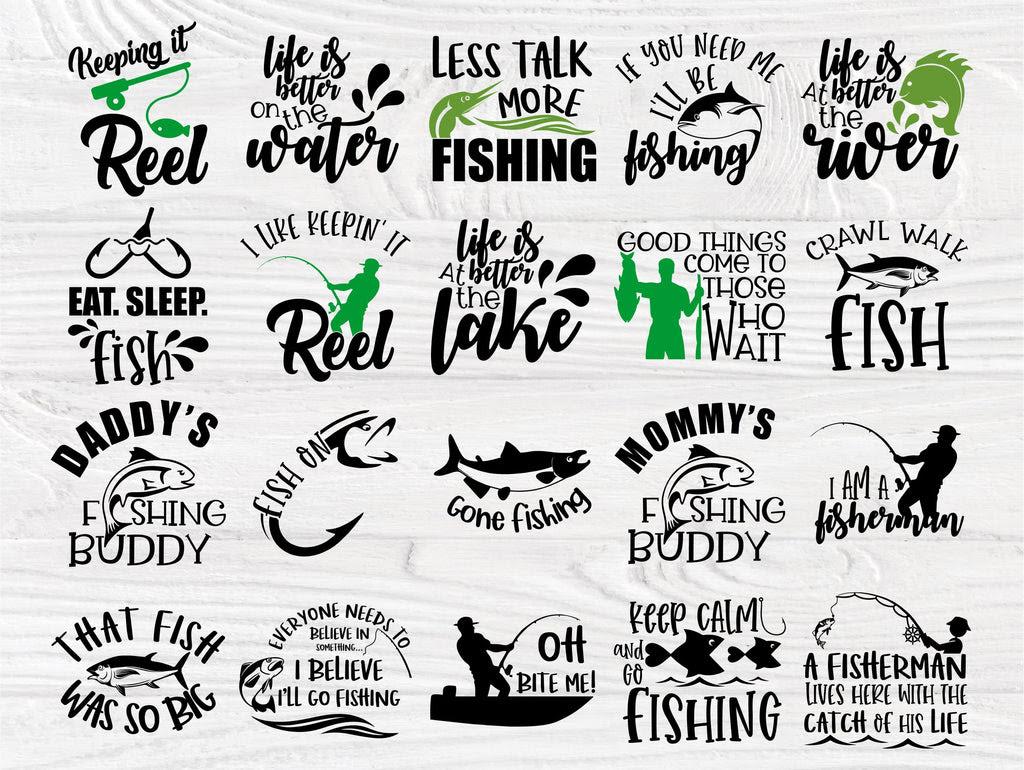 Download Fishing Svg Bundle Fisherman Shirt Bass Cut File So Fontsy