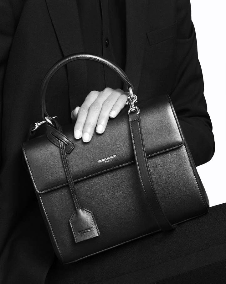 Le Fashion Blog Fall 2015 Bags Saint Laurent Moujik Bag Front Flap Top Handle Style