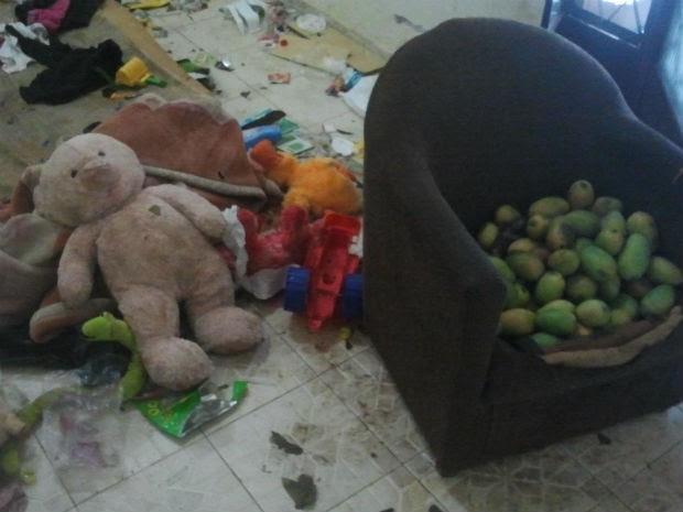 Criança foi encontrada por policiais militares no domingo (14) (Foto: Fernando da Mata/G1 MS)