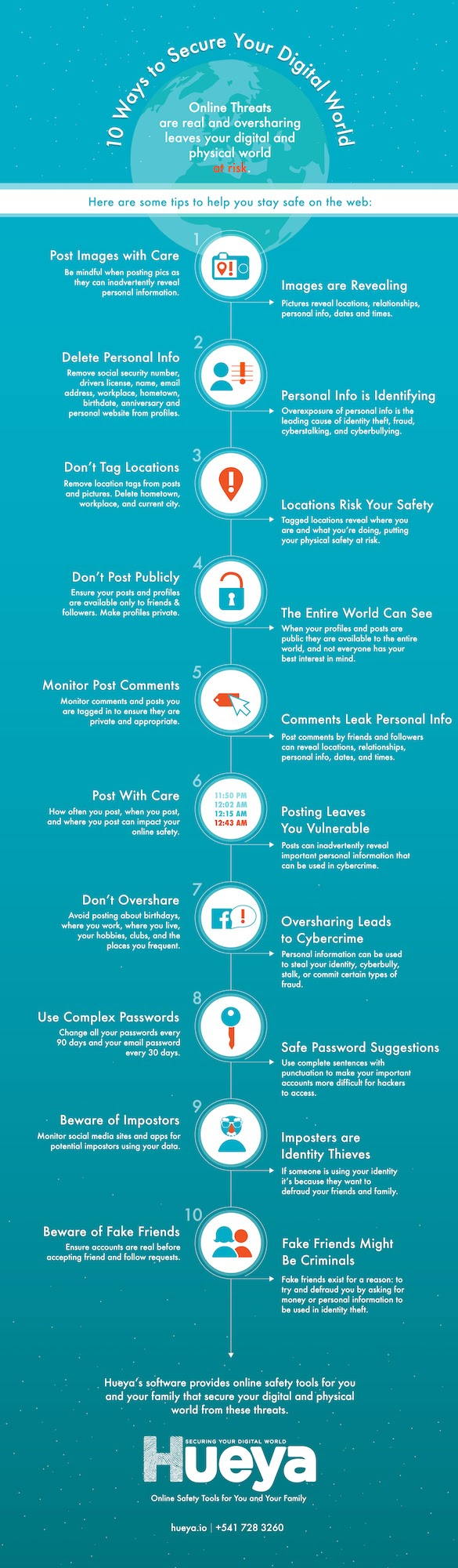 10 Ways to Secure Your Digital World - #infographic