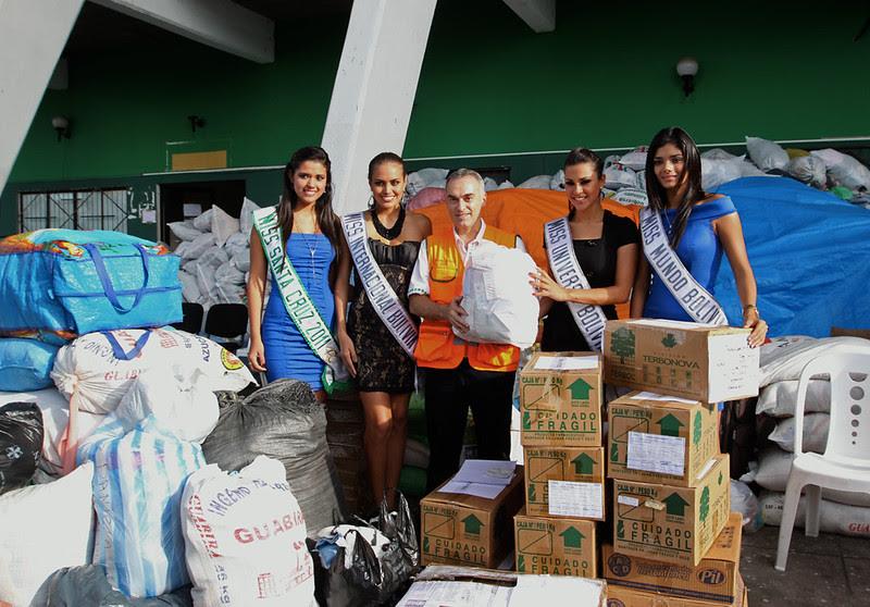 Misses y Rotary Santa Cruz entregan ayuda para damnificados por inundaciones