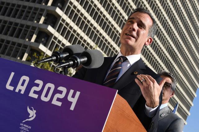 Eric Garcetti esttrès impliqué dans la candidature de... (PHOTO AFP)
