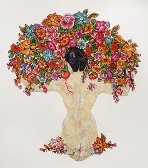 Desnuda y Flores 2015 after Diego Rivera 1944
