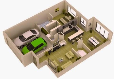 ukuran rumah ada garasi mobil - perodua o