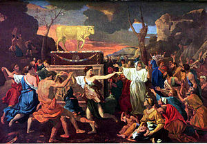 The Adoration of the Golden Calf' by Nicolas P...