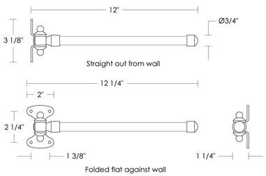 Urban Archaeology Swing Arm Towel Bar Single Metal Ua2097 Ba
