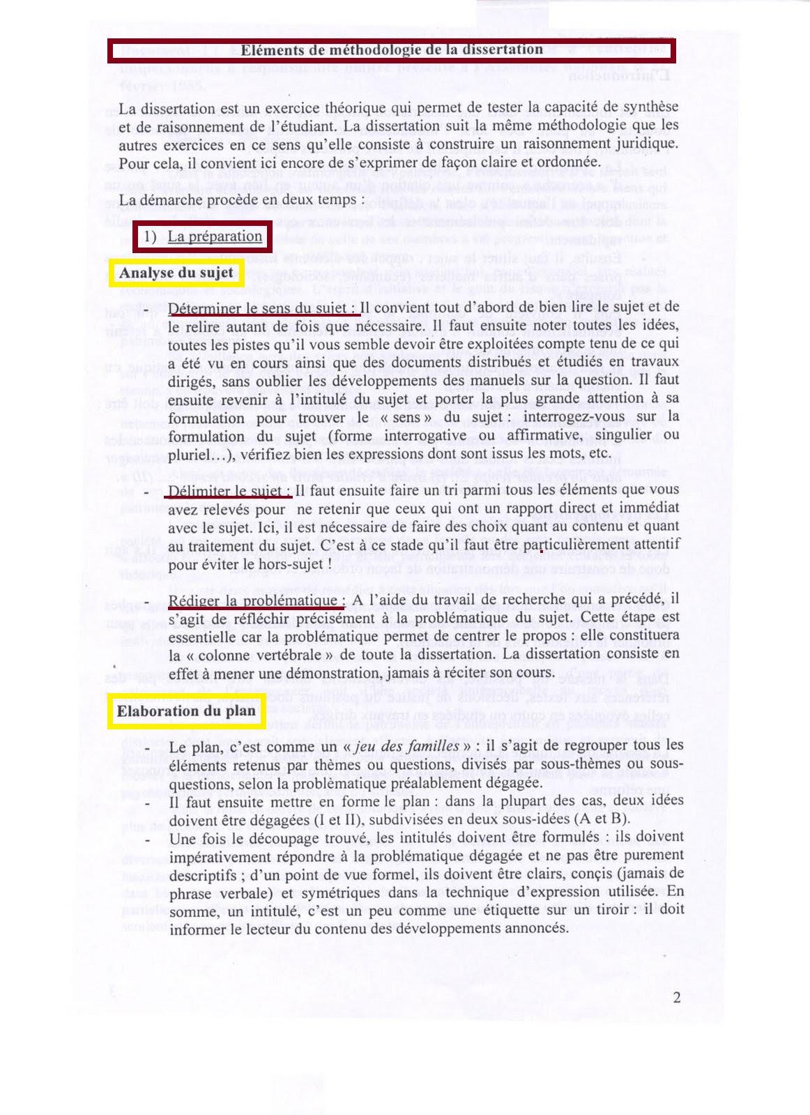 Note De Synthèse Exemple De Plan - Le Meilleur Exemple