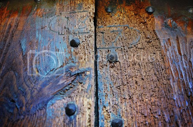 Old Masia Door: 1817 [enlarge]