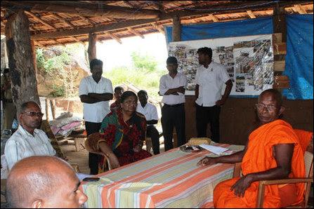 Mayilaththamadu, GA and EPC Minister talking to Monk