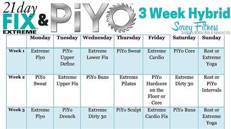 day fix extreme piyo hybrid workout calendar