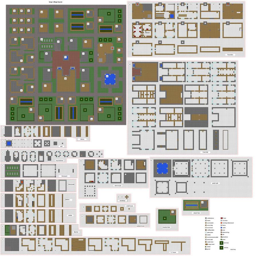 ColtCoyote's Old Village Blueprints/Plans (Actually Built ...