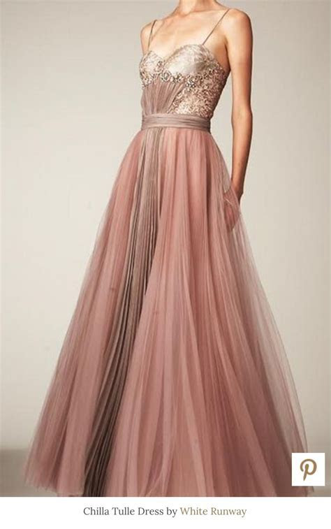 Chilla tulle gown by White Runway   dusty pink   Dream