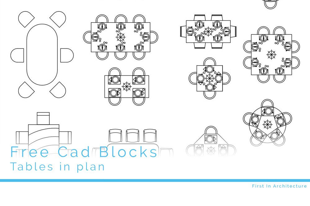 Free CAD Blocks  Tables  First In Architecture