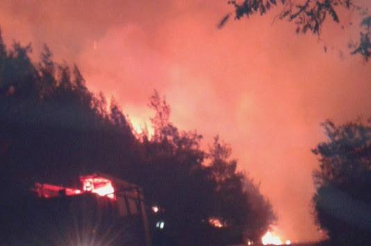 """Φωτιά στη Θάσο: Ολονύχτια """"μάχη"""" με τις φλόγες! Απειλούνται οικισμοί"""