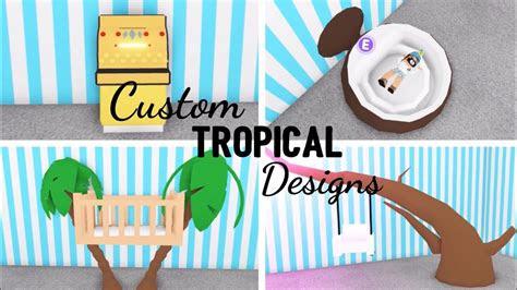 custom tropical design ideas building hacks roblox